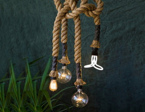 Hemp Rope Ceiling Lamp - Homlly