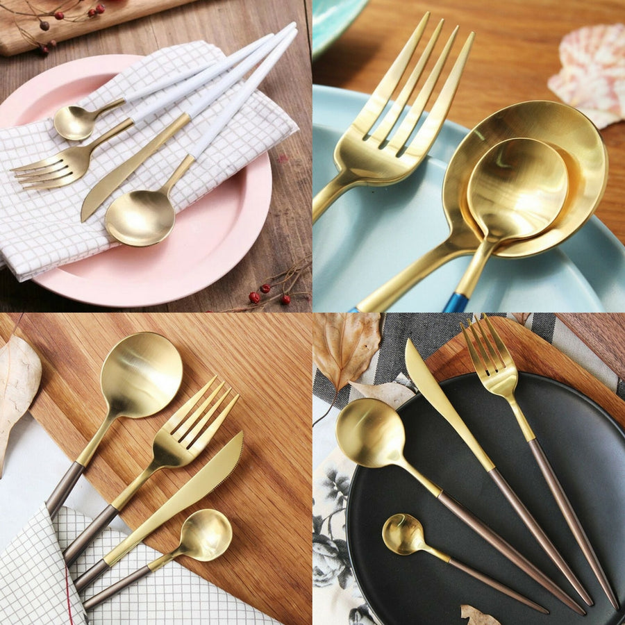 Keii 4 Piece Gold Cutlery Set