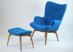 Grant Blue Lounge Chair Set - Homlly