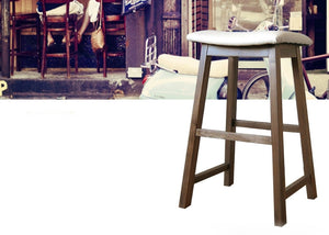 Macarthur Oak Wood Stool
