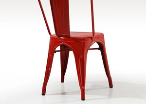 Red Tolix Iron Chair