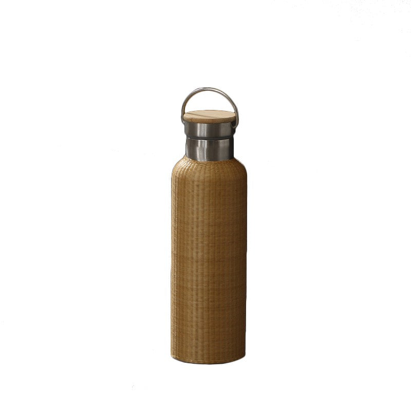Yooni Hand Craft Rattan Stainless Steel Bottle (600ml)