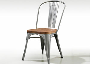 Homlly Tolix Wood Iron Chair