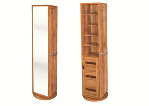 Rotatable Yukashi Cupboard and Mirror