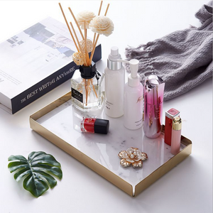 Homlly Keii Gold Bass Marble Display Storage Tray