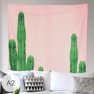 Cactus Tapestry Wall Hanging Throw Cloth - Homlly