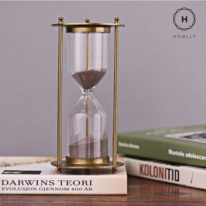 Homlly Alloy Hour Glass Timer (30 mins) Gold / Bronze Color