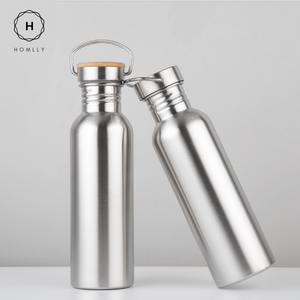 Wood Cap Stainless Steel Bottle