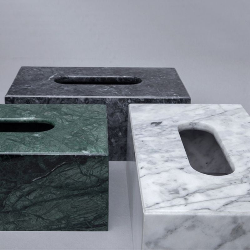 Homlly Real Marble Tissue Box Holder