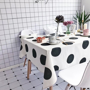 Homlly Chic life Polka Dot Table Cover Cloth  (4 Sizes)