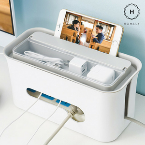 Homlly Cable box with top storage compartment