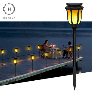Gardi Classic Solar LED Dancing Flame Standing Torch Light - Homlly