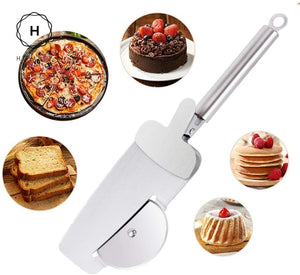 Homlly Pizza Wheel Cutter with Serve spoon