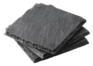 Homlly Slate Stone Drink Coasters (Set of 5pcs)