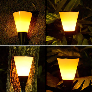Gardi Cone Solar LED Dancing Flame Standing Classic Torch Light - Homlly