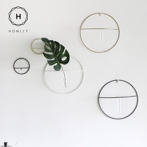 Homlly Circle Wrought Iron Wall Plant Decoration - Homlly