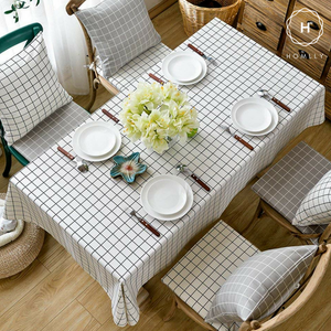 Homlly Checked Table Cover Cloth