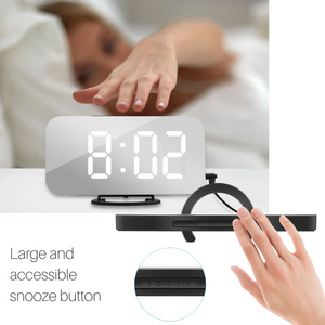 Bedside Large Digit LED Alarm Clock w 2 USB Charging Port - Homlly