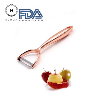 Homlly Zinc Alloy Rose Gold Vegetable Peeler