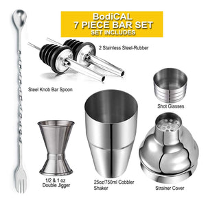 Homlly Cocktail Shaker Bartender Set (7pcs)