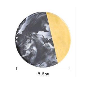 Homlly Tii Gold Marble Coasters