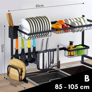 Homlly Over the Sink Kitchen Drainer Rack (Adjustable)