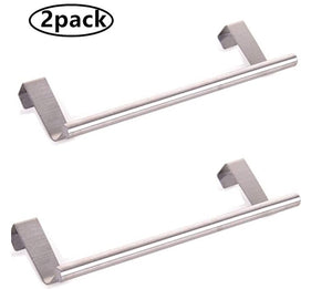 Homlly Over Cabinet Door Stainless Steel Towel Bar Holders (2pcs)