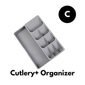 Homlly Drawer Organizer Tray for Cutlery and Knives