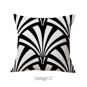 Homlly Geometric Black Cushion Covers
