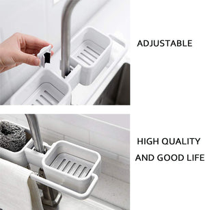 Homlly Dual Sink Caddy Sponge Holder