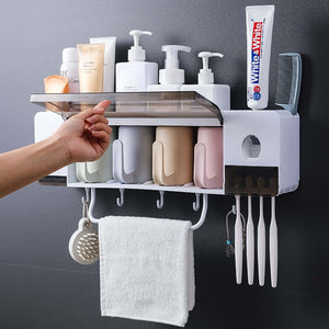 Homlly Bathroom Toiletries Holders with Toothpaste Squeezer