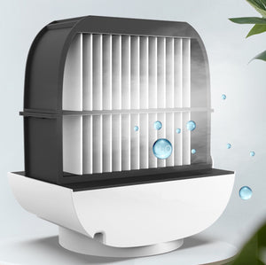 Homlly Portable Air Cooler Night Lamp Fan