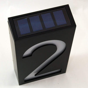 Homlly Waterproof Solar Lighted Address Sign House Number (Single)