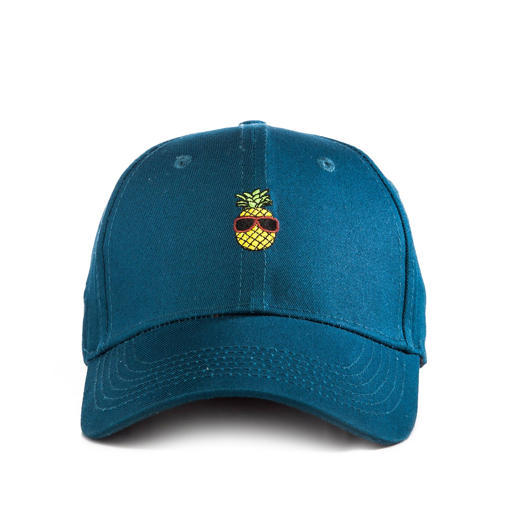 Cool Pineapple - Teal Baseball Cap