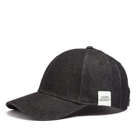 Classic Denim Baseball Cap -  Black