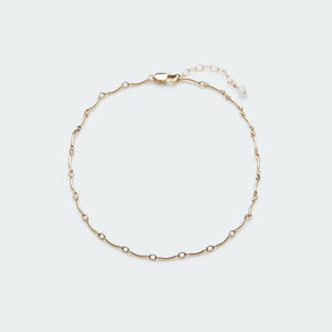 Load image into Gallery viewer, Wave anklet gold