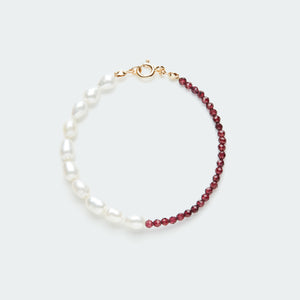 Rêve bracelet gold - single colour large pearl