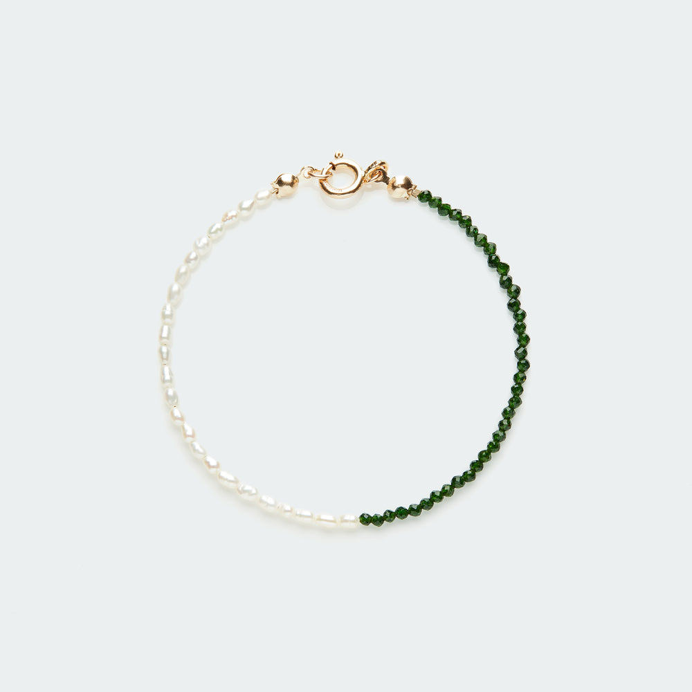 Rêve bracelet gold - single colour small pearl