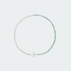 Rêve necklace silver - single colour medium pearl