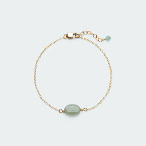 Pebble bracelet gold