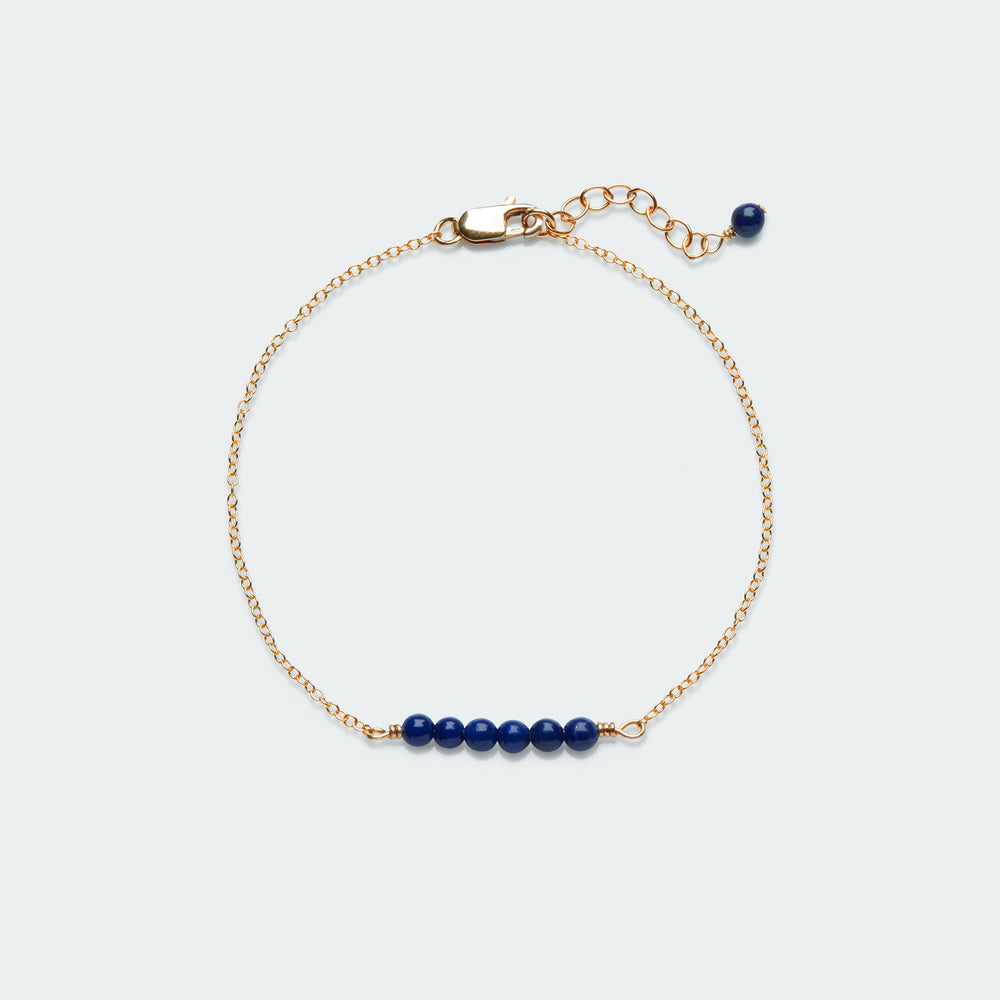 Load image into Gallery viewer, Smooth Pebble gemstone bracelet gold