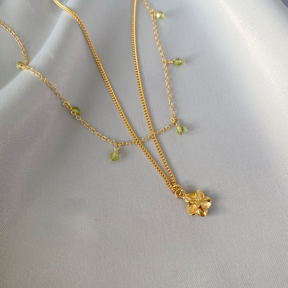 Greenery necklace set gold