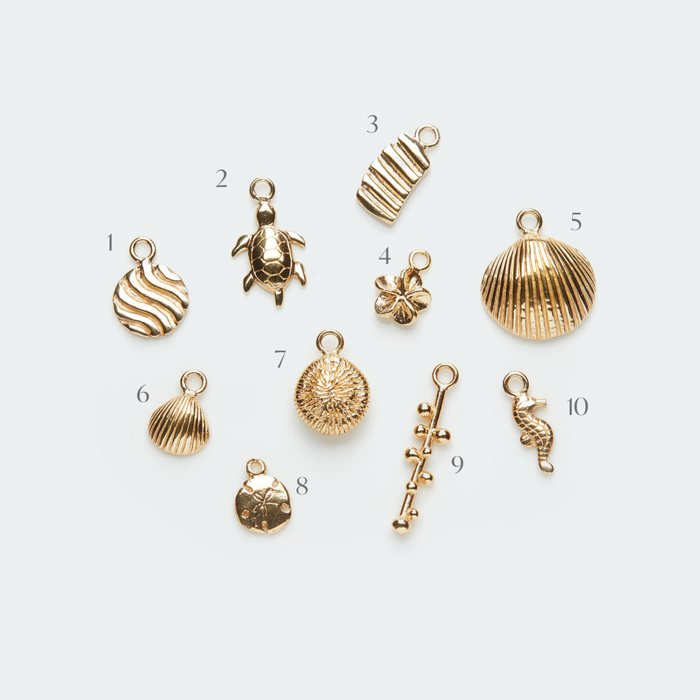 Add-on ocean inspired pendants gold