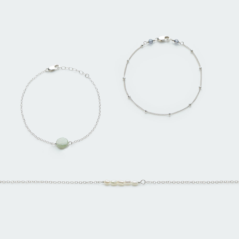 Always with me bracelet set silver