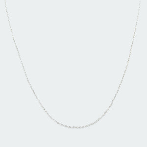 Basic oval chain necklace silver