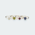 Round gemstone ring gold