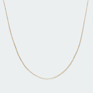 Basic twist chain necklace gold