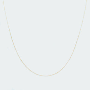 Basic oval chain necklace gold