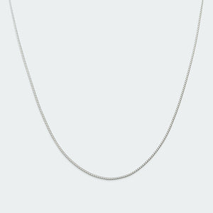 Basic curb chain necklace silver