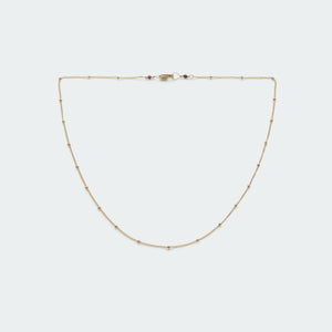 Caviar layering necklace gold